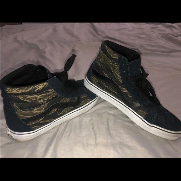 Vans Shoes | Camo High Top Vans | Poshmark